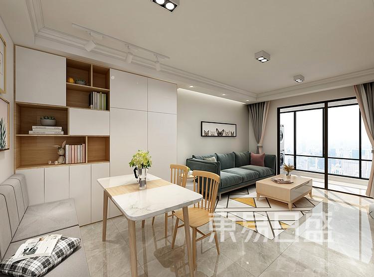 嘉邦小区90平三居室北欧风装修设计案例家装效果图——餐厅