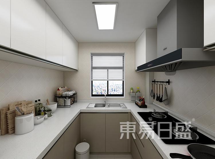江杨家园200平现代风格装修设计案例家装效果图——厨房