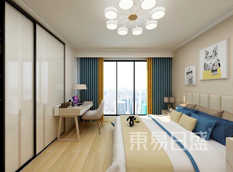 江杨家园200平现代风格装修设计案例家装效果图——卧室