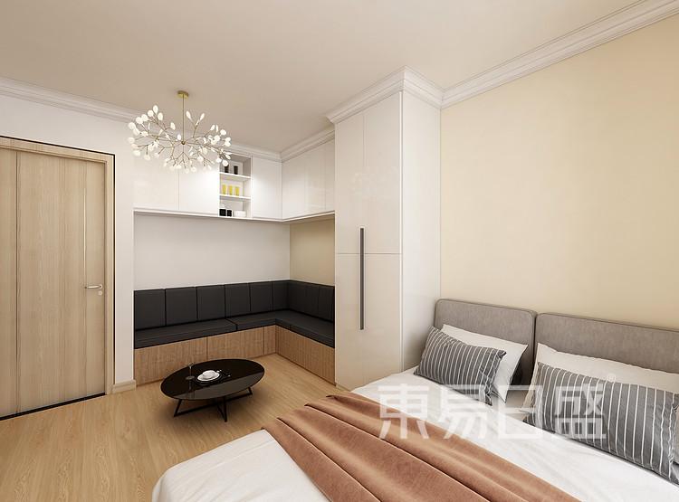 嘉邦小区50平二居室北欧风装修设计家装效果图——卧室