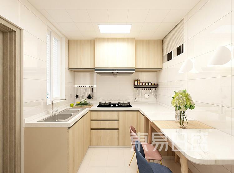 嘉邦小区50平二居室北欧风装修设计家装效果图——厨房