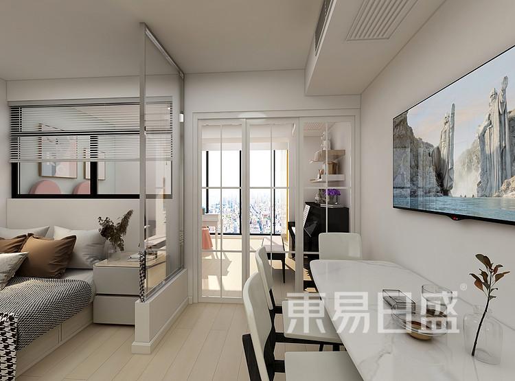 嘉邦小区50平北欧风二居室装修设计案例——客厅