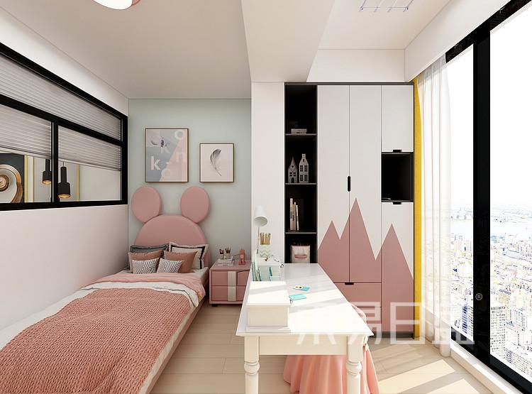 嘉邦小区50平北欧风二居室装修设计案例——儿童房