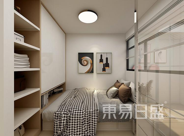 嘉邦小区50平北欧风二居室装修设计案例——卧室