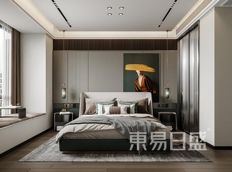 二楼是作为主卧室和儿童房,改造原有结构,主卧室强化了衣帽间功能,打造了套间的品质感