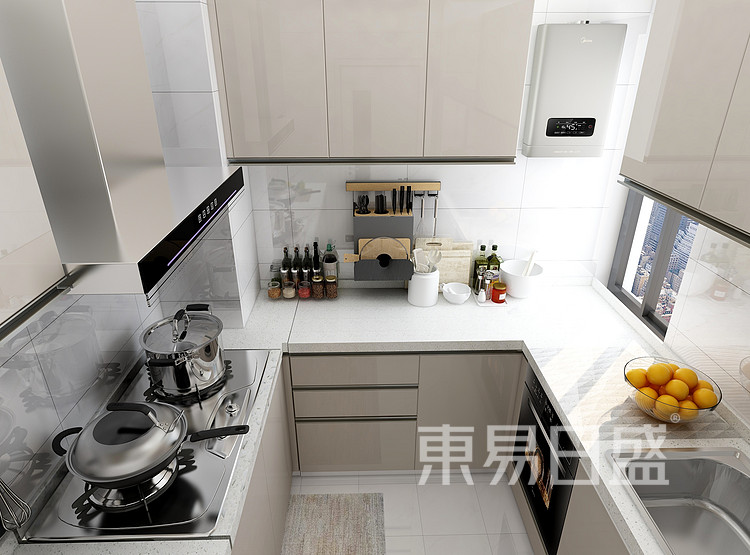 现代北欧厨房装修效果图