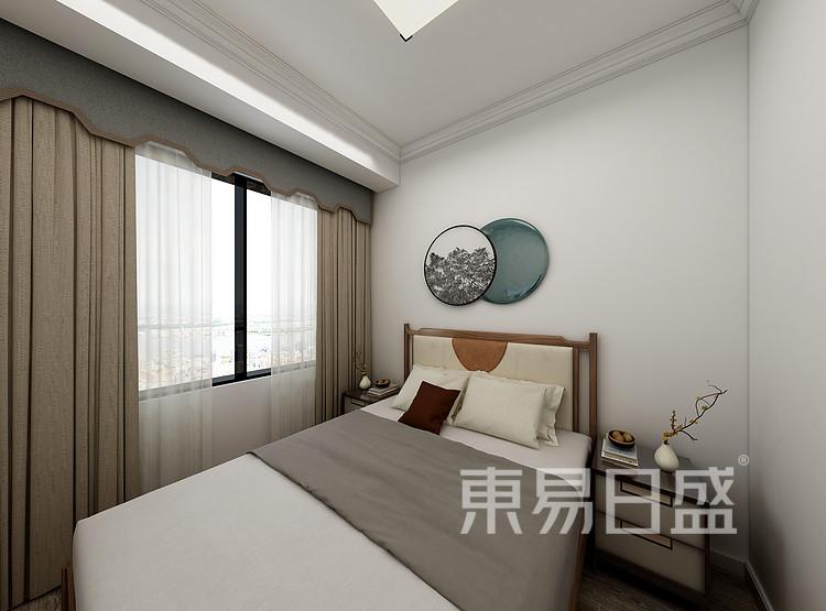 江杨家园100三居室现代轻奢风装修设计案例——次卧