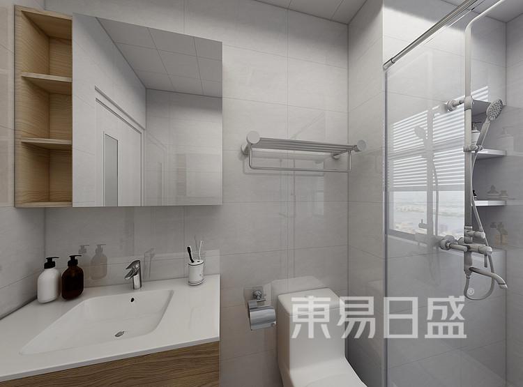 江杨家园100三居室现代轻奢风装修设计案例——卫生间