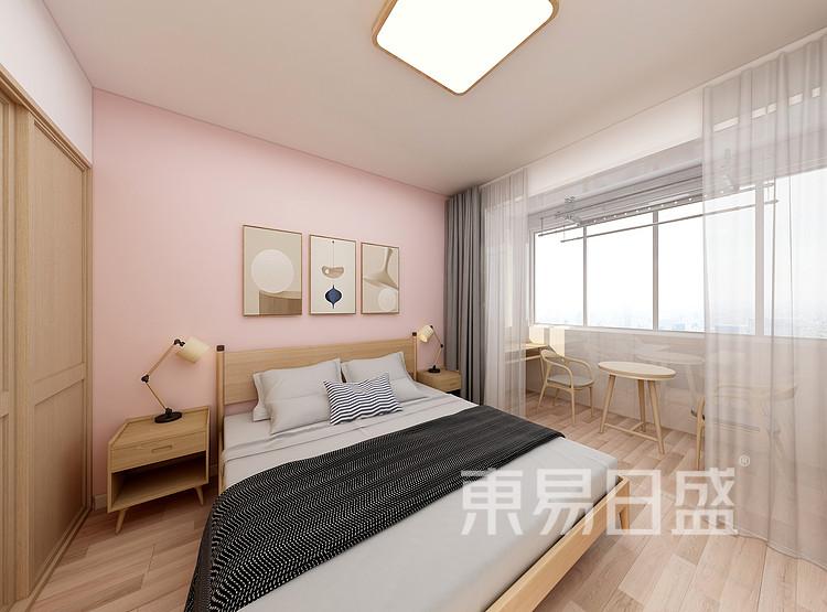 嘉邦小区100平日式风格三居室装修设计家装图——卧室