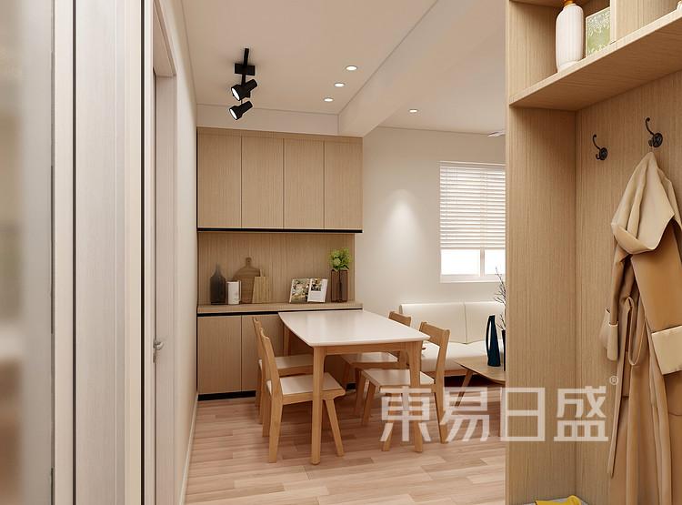 嘉邦小区100平日式风格三居室装修设计家装图——餐厅