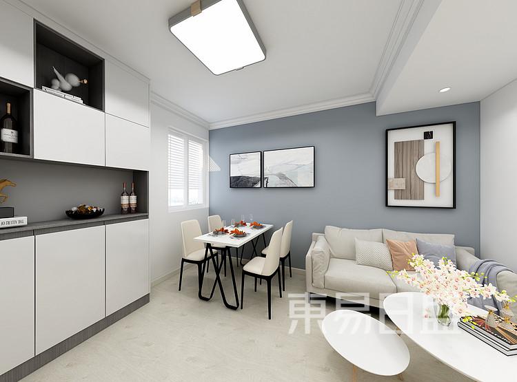嘉邦小区90三居室现代风格壮戏设计案例——客厅