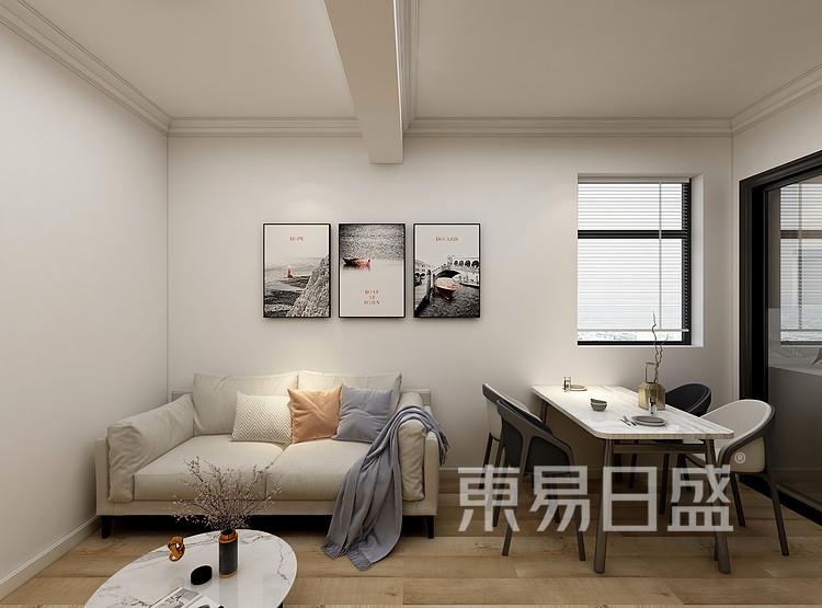 嘉邦小区85平三居室现代风格装修设计案例——客厅