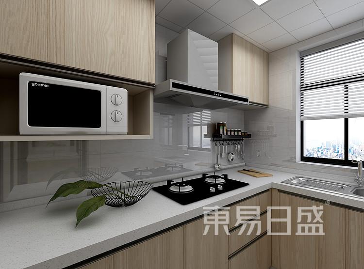 嘉邦小区85平三居室现代风格装修设计案例——厨房