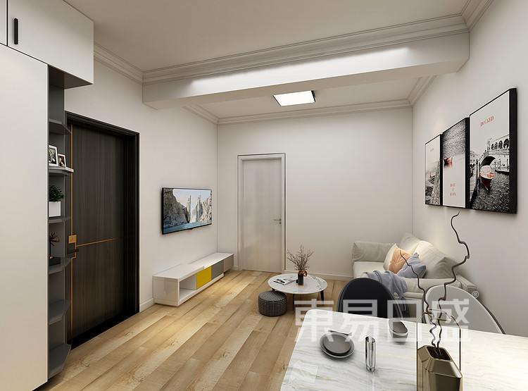 嘉邦小区85平三居室现代风格装修设计案例——餐厅