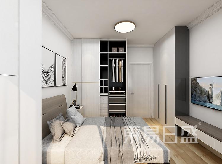 嘉邦小区85平三居室现代风格装修设计案例——卧室