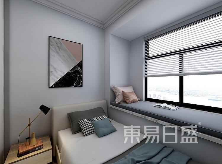江杨家园120平三居室现代风格装修设计案例——卧室