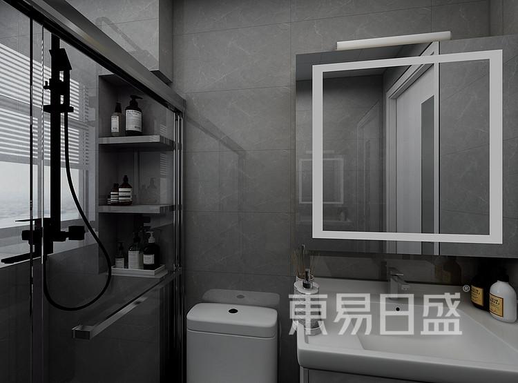 江杨家园120平三居室现代风格装修设计案例——卫生间