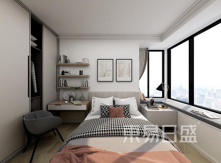 江杨家园75平三居室现代简约风格装修设计案例——卧室