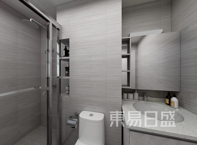 江杨家园75平三居室现代简约风格装修设计案例——卫生间