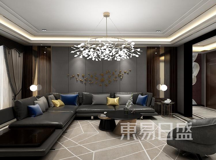后现代轻奢客厅装修效果图