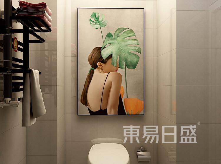 美式轻奢卫生间装修效果图