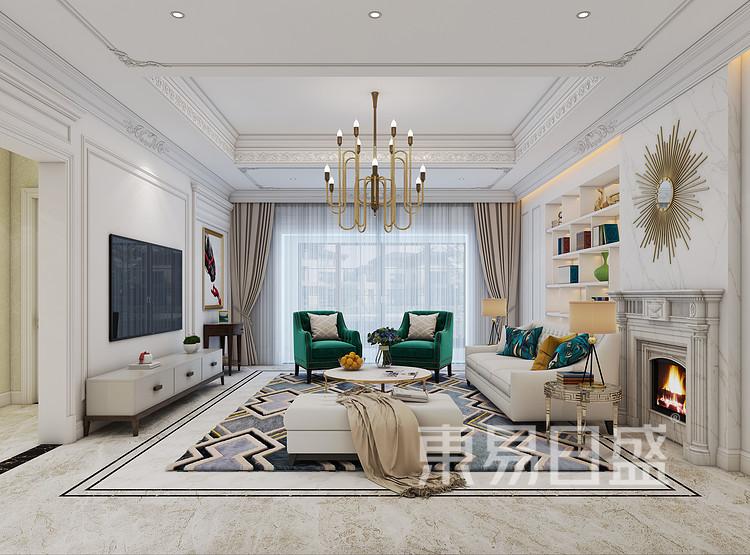 法式风格客厅装修效果图