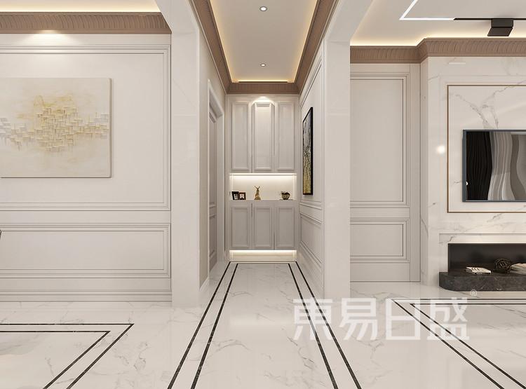 美式简约门厅装修效果图