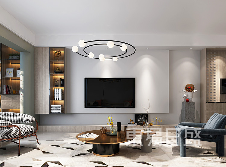 现代风格电视背景墙装修设计效果图