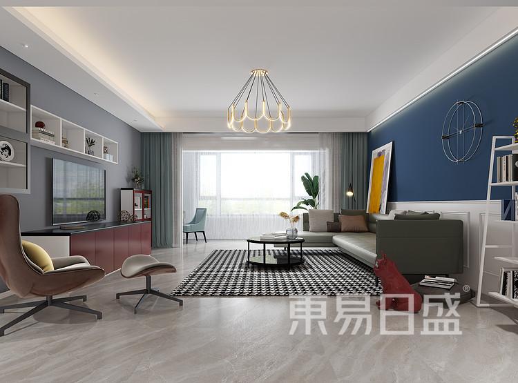 现代北欧客厅装修效果图