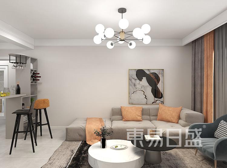 轻奢风格客厅装修效果图