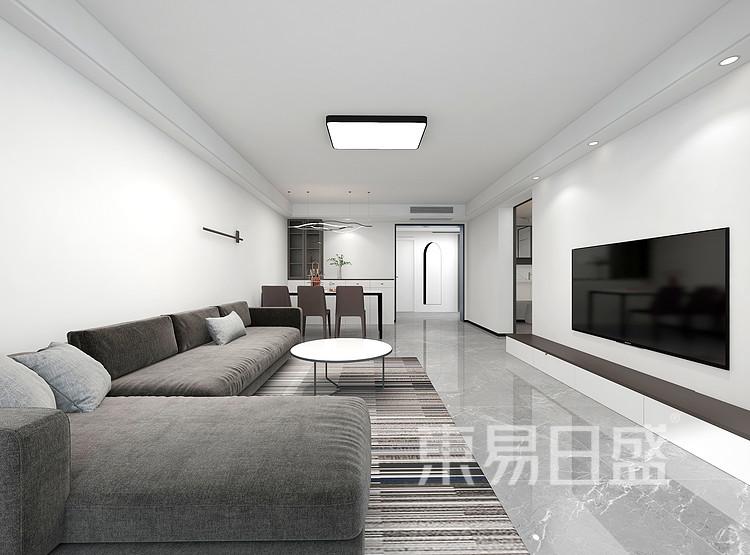 现代极简客厅装修效果图