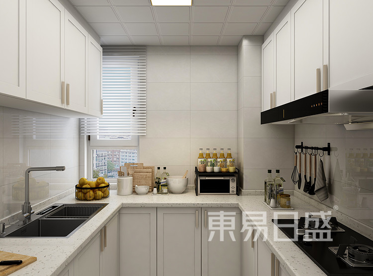 现代轻奢厨房装修效果图