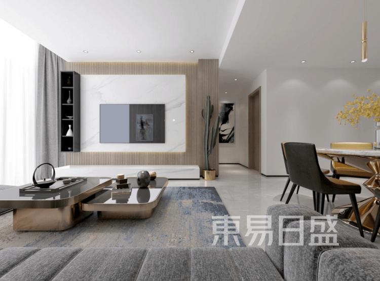复式楼-现代简约-客厅装修效果图
