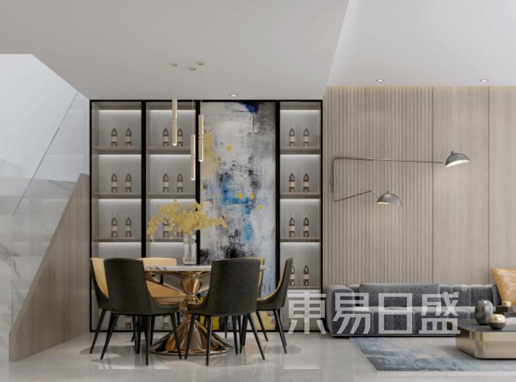 复式楼-现代简约-餐厅装修效果图