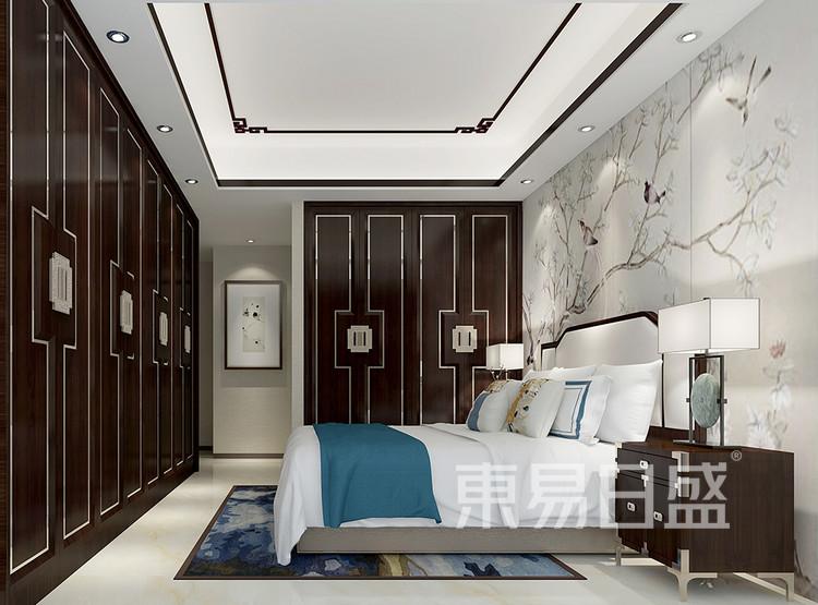 复式楼-中式风格-卧室装修效果图