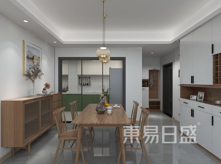 三居室-北欧-餐厅装修效果图