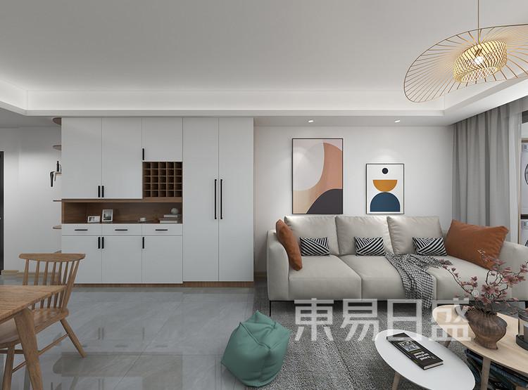 三居室-北欧-客厅装修效果图